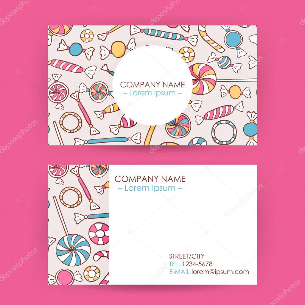 Business card hand drawn candy sweets background stock vector business card hand drawn candy sweets background stock vector colourmoves
