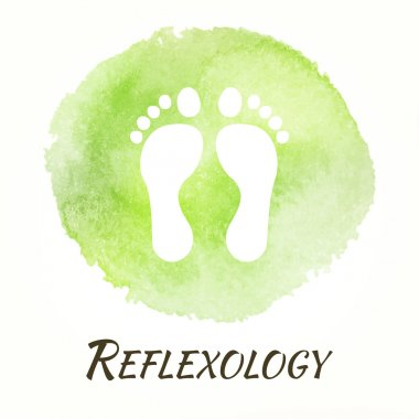 Reflexology Vector Watercolor Concept