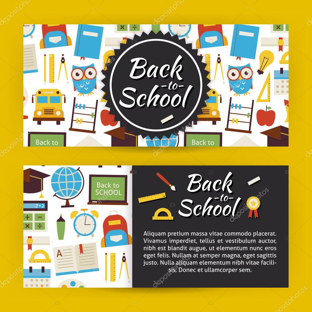 back to school and education modern flat style vector template b