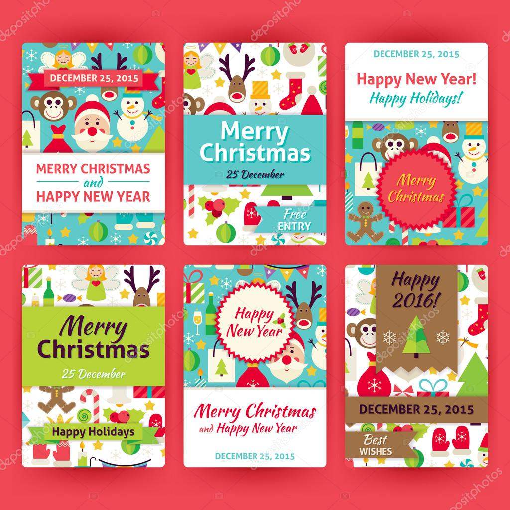 Feliz Navidad Vector plantilla invitación situado en moderno ...