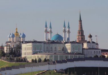 Presidential palace and temples in Kazan Kremlin