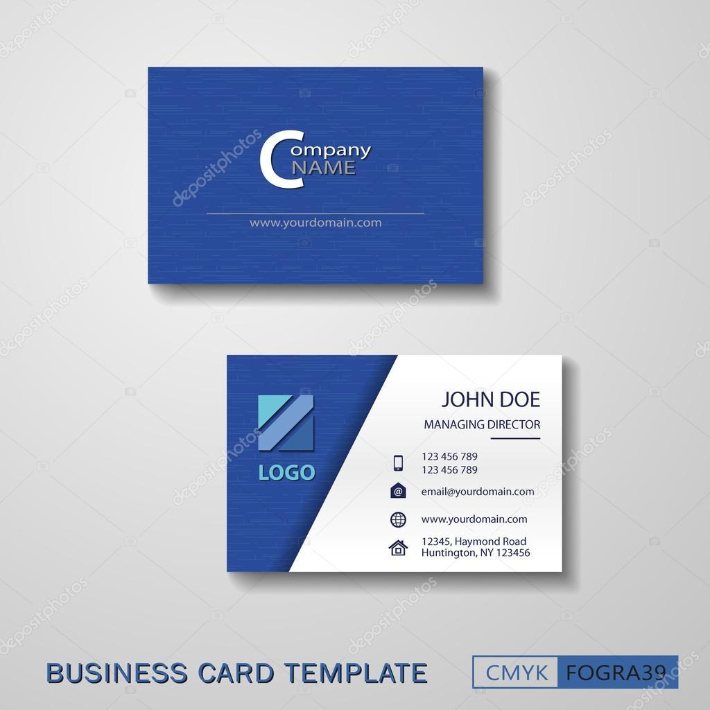 Vcard business card set blue — Stock Vector © AVPanov #114901268