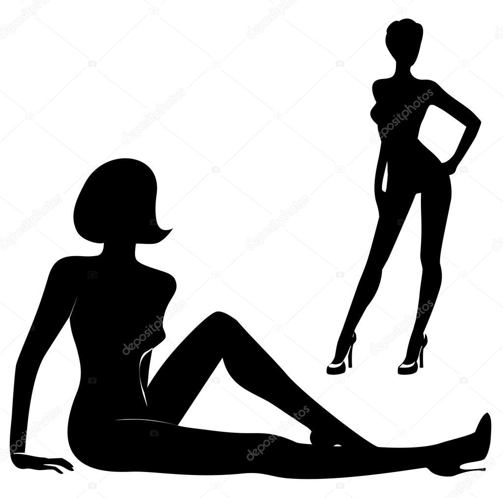 Naked girl silhoette #3