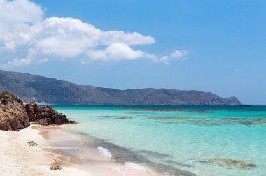 Sandy beach in Elafonisi, Crete, Greece