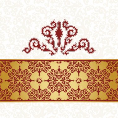 White background, red seamless pattern.