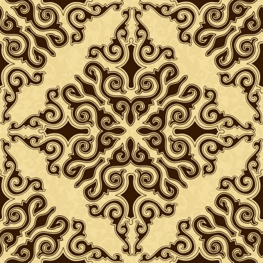 Golden background, brown seamless texture.