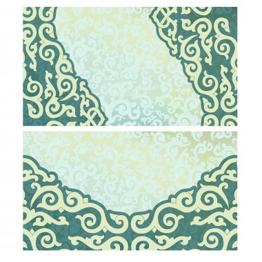 Business card in oriental style.