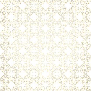 Golden ornament, white background.