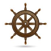 Dřevěný volant lodi