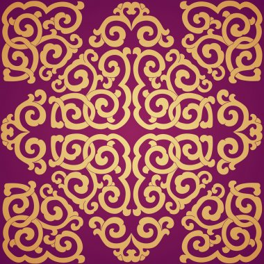 Seamless texture. Ornament in east style.