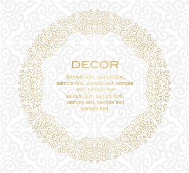 Decorative frame. White background.
