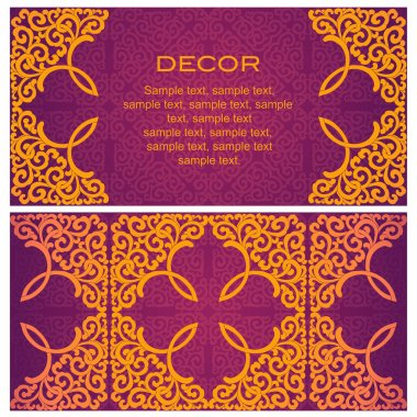 Invitation. Abstract background.