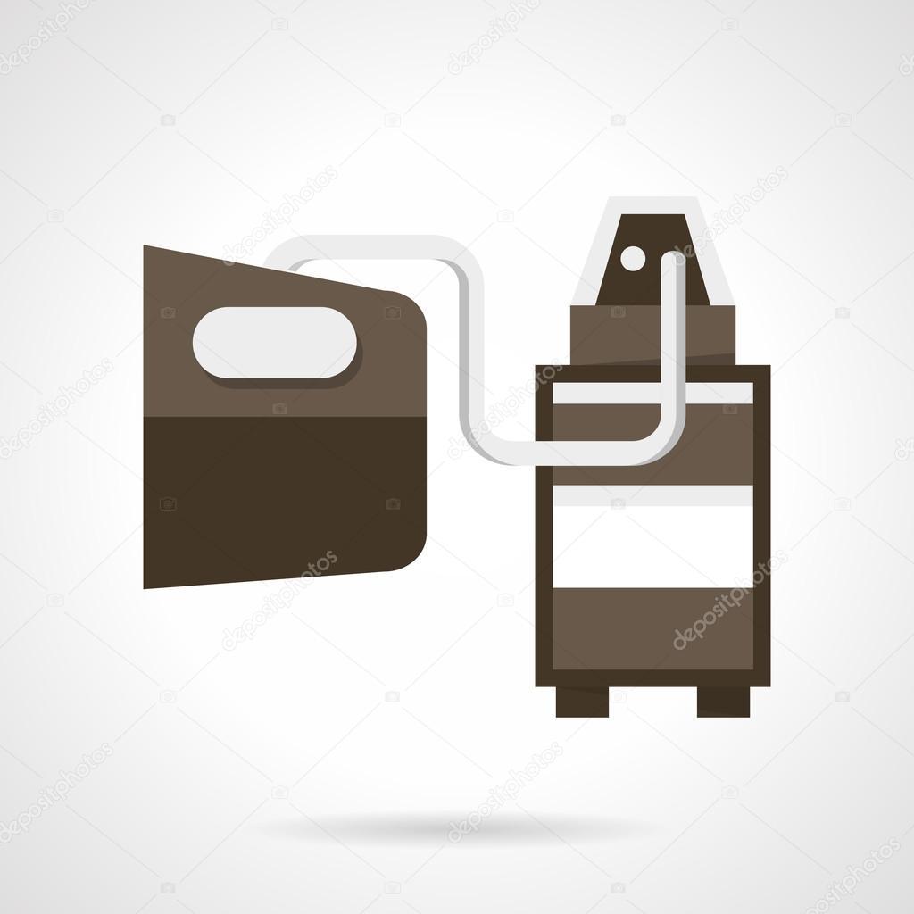 Vehicle emissions analysis flat design vector icon