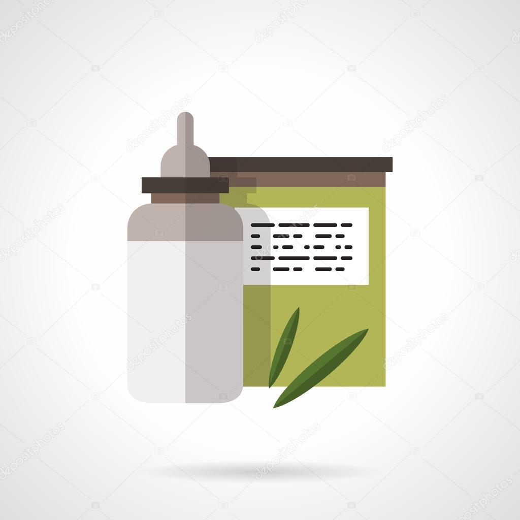 Baby nutrition flat color design vector icon