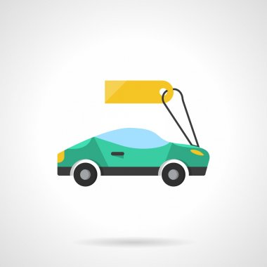 Sale of new cars flat color vector icon