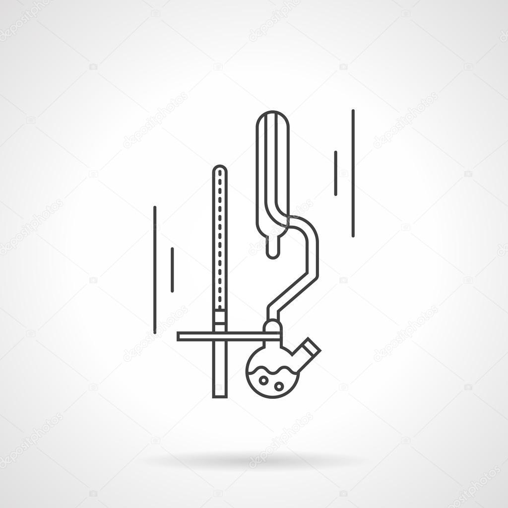 Chemistry labware flat line vector icon vetores de stock chemistry labware flat line vector icon vetores de stock ccuart Gallery