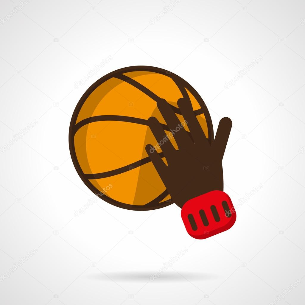 play basketball sign flat color design vector icon ストック