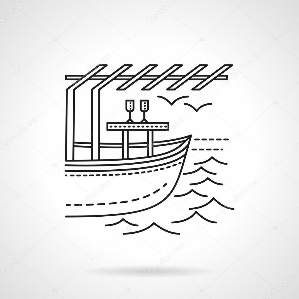 Romantic leisure flat line vector icon