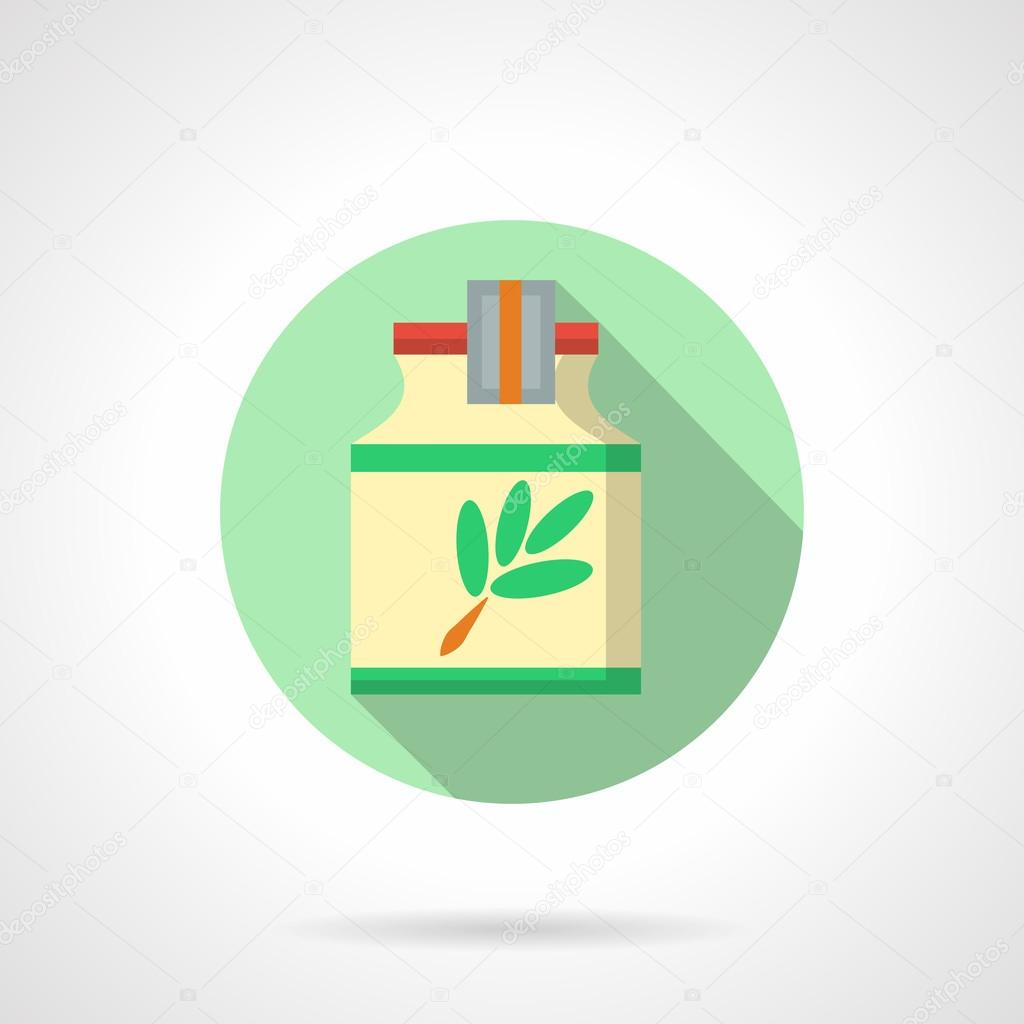 Herbal extract flat color design vector icon
