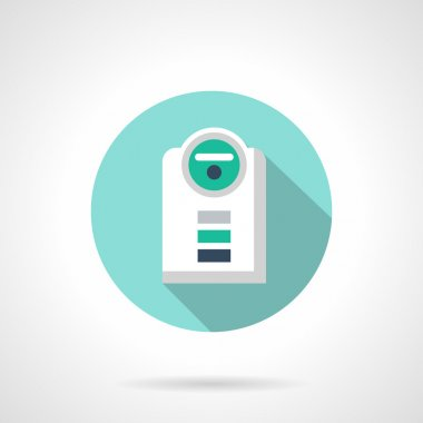 Modern humidifier flat color design vector icon