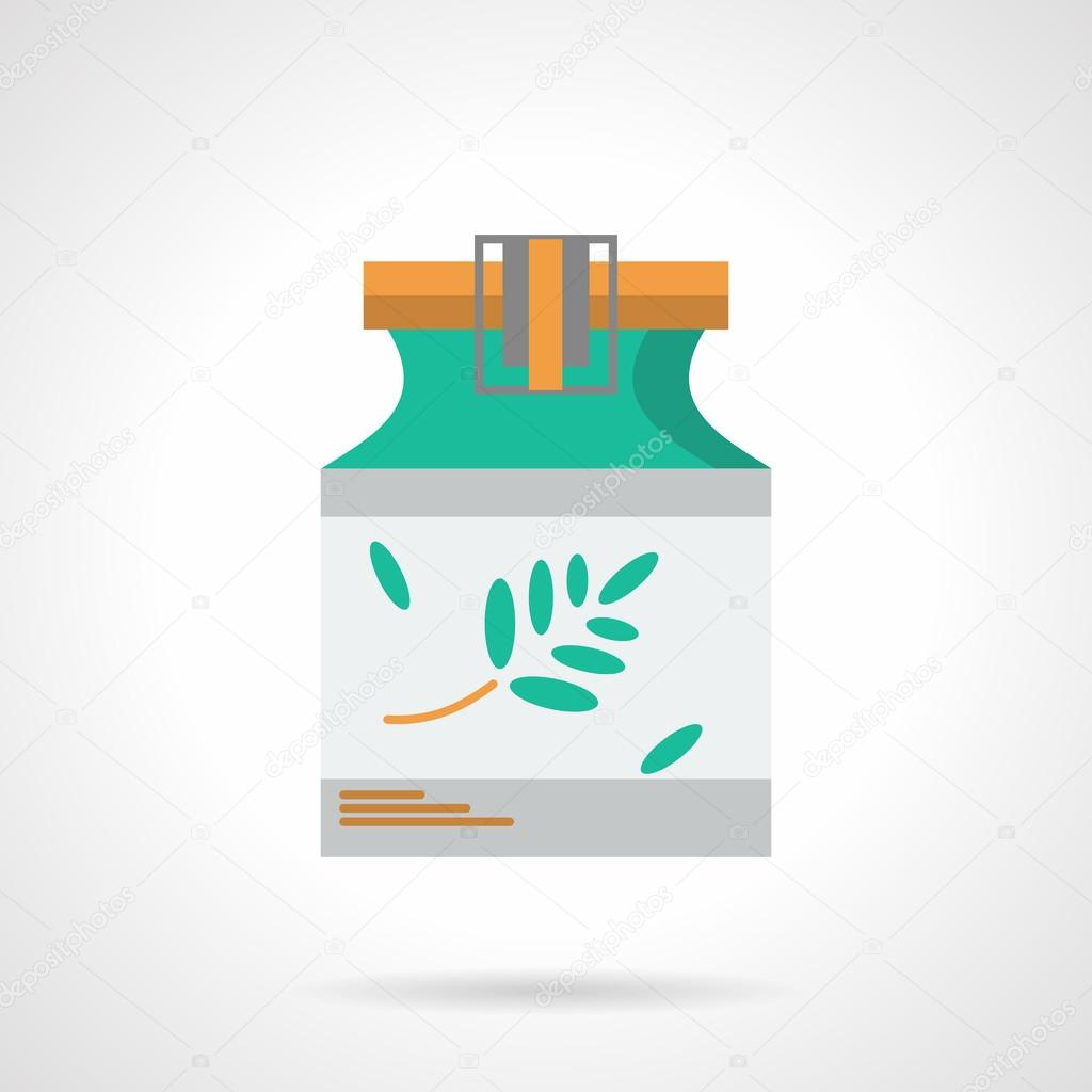 Herbal tincture flat color vector icon