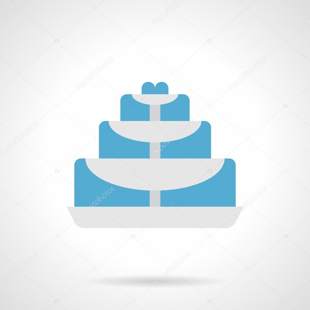Fountain for table flat color vector icon