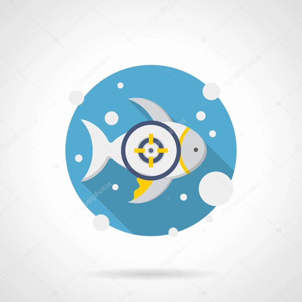 Fish aim detailed color vector icon