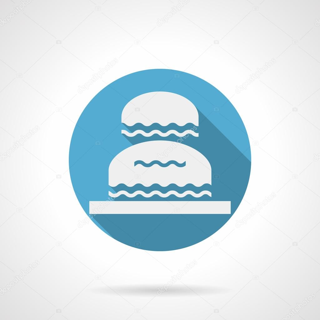 Decorative water flowing blue round vector icon