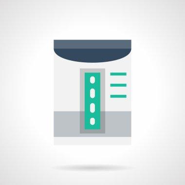 Household dehumidifier flat color vector icon