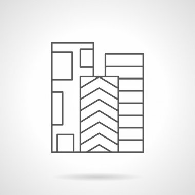 Rolls of linoleum flat line vector icon