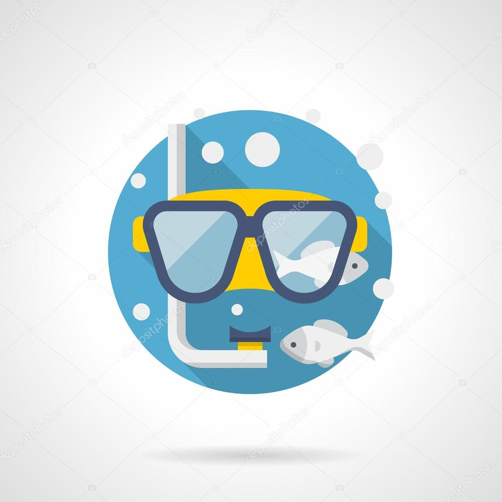 Diving accessory detailed color vector icon