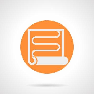 Orange round vector icon for heat coil