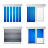 Fotografie vektorové ikony pro okna žaluzie
