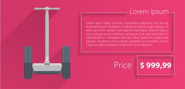 Flat vector minimalist template business design. Segway.