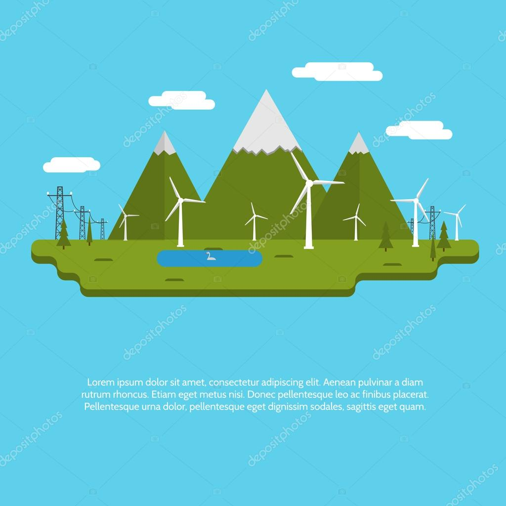 Flat design vector illustration for ecology