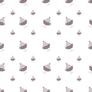 Vector background for chocolate ice cream in cup
