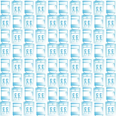 Seamless vector background for water cooler