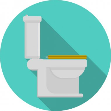 Flat vector icon for toilet