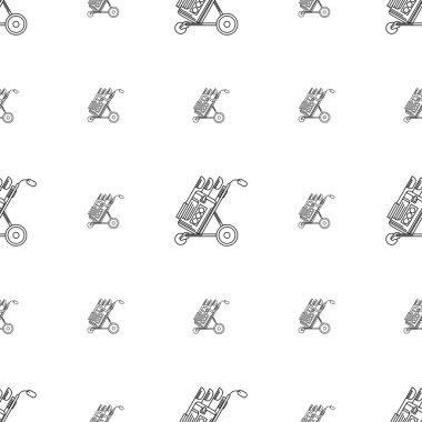 Monochrome vector background for golf bag