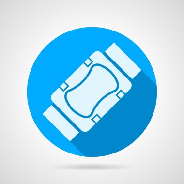Flat vector icon for elbow and knee protection