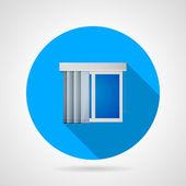 Fotografie Plochá vektorové ikony u okna, vertikální žaluzie