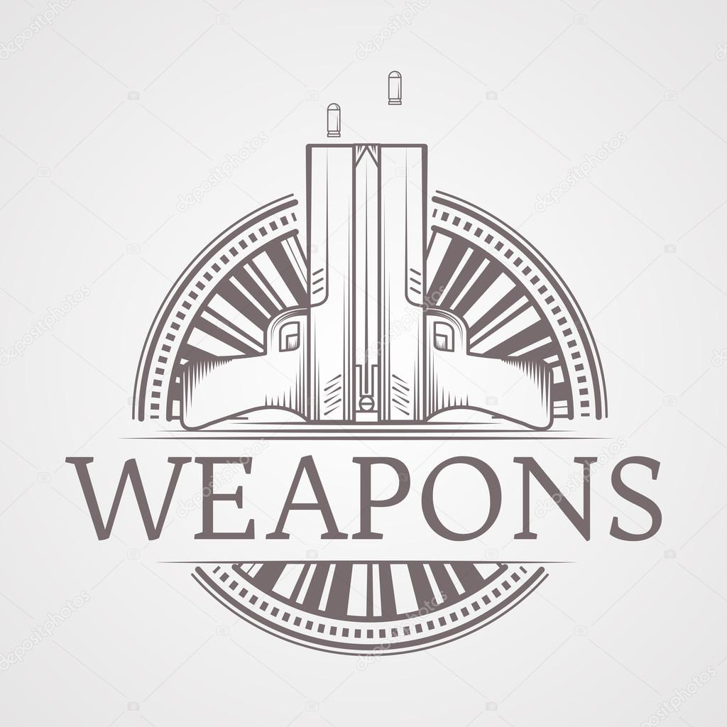 Ilustración de vector abstracto de la insignia de armas traumática ...