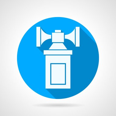 Double air horn flat vector icon
