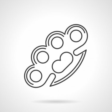 Contour vector icon for brass knuckles