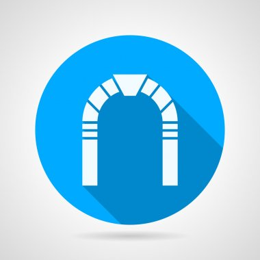 Stone arch flat vector icon