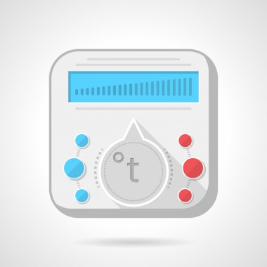Colorful vector icon for heated floor thermoregulator