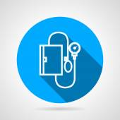 Kör kék vektor ikon a orvosi tonométer