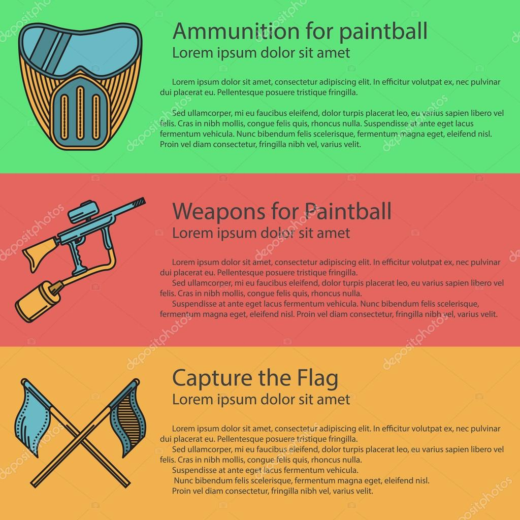 Paintball colored vector illustration