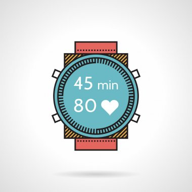 Flat design vector icon for diver watch