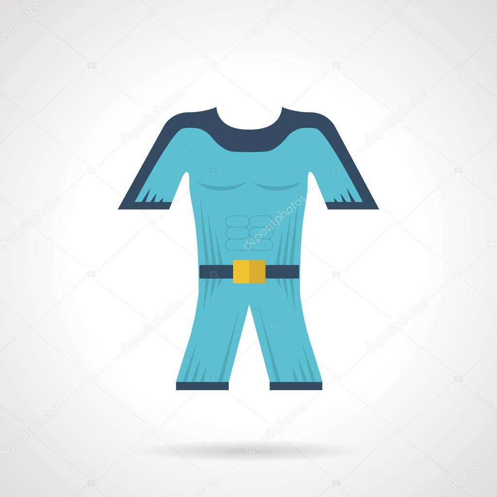 Flat color vector icon for diving wetsuit